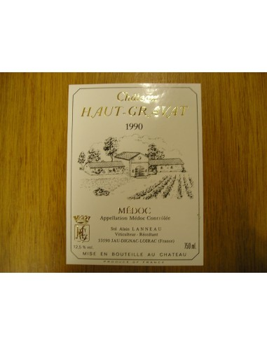 etiquette haut-gravat 1990