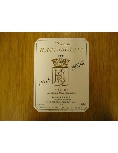 etiquette haut-gravat cuvée prestige 1993