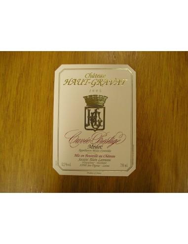 etiquette haut-gravat cuvée prestige 1995